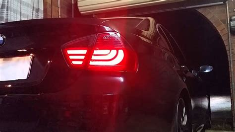 testing  bmw   series  led   smoked red lava