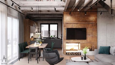 Industrial Home Style : Warm Industrial Style House (with Layout