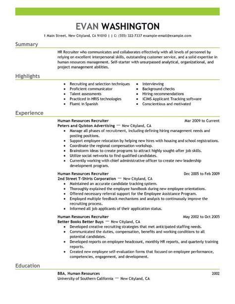recruiting  employment resume  livecareer