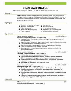 best recruiting and employment resume example livecareer With employment resume
