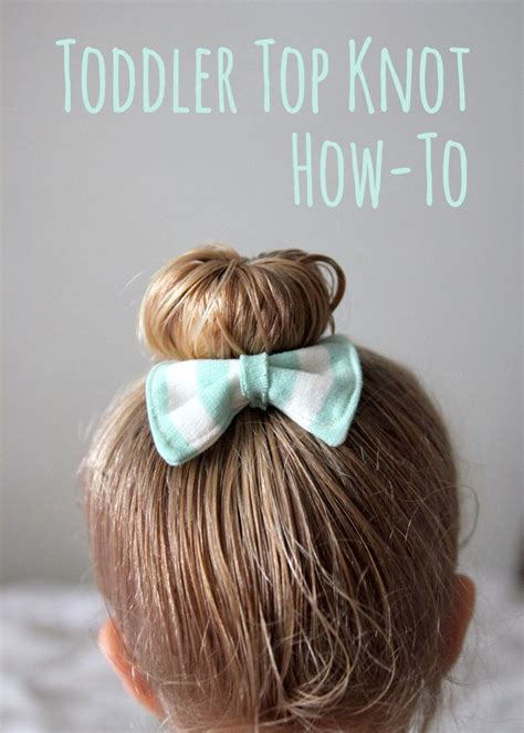 awwww todder top knot hair how to would also work great