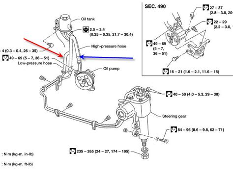 2000 Xterra Vacuum Diagram by How To Replace The Power Steering Set Assembly On A