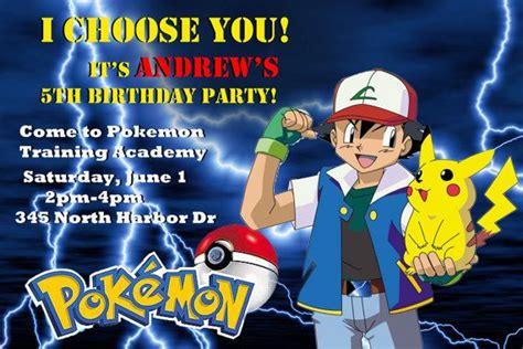 pokemon birthday invitations ideas bagvania