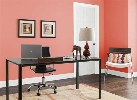 office  bay coral home office room paint colors