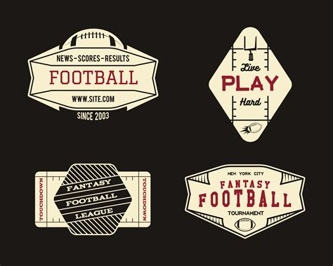 american football field geometric team  league badge