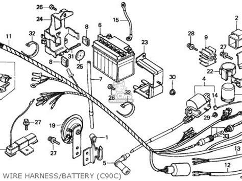 honda c90 cub 1982 england csw parts list partsmanual partsfiche