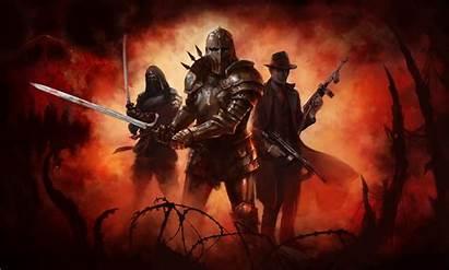 Knight Warrior Templar Knights Medieval Dark Armor