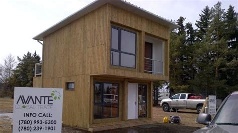 builders bring container house concept  alberta cbc news