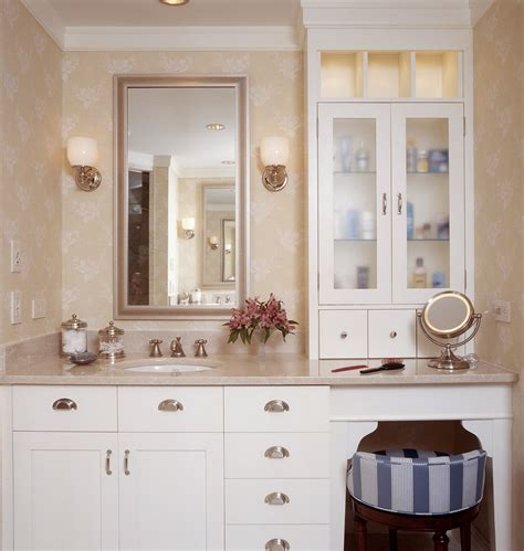 pretty makeup vanitiesin bathroom traditional