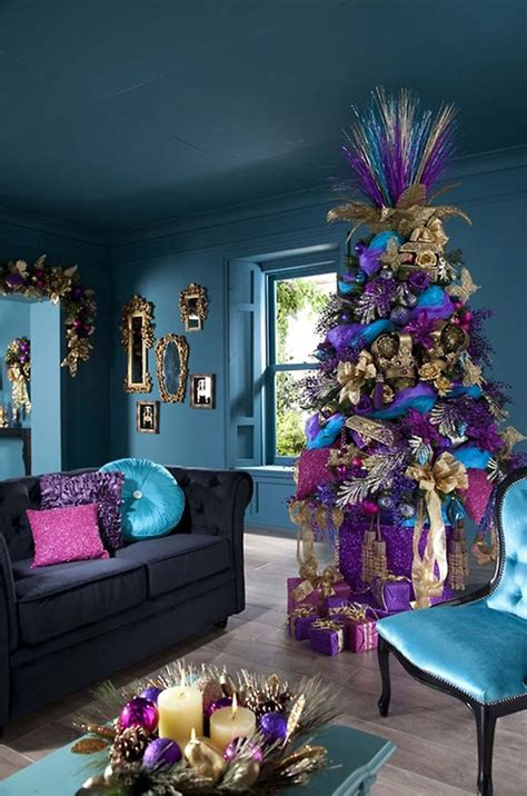 decorating beautiful blue theme living room interior