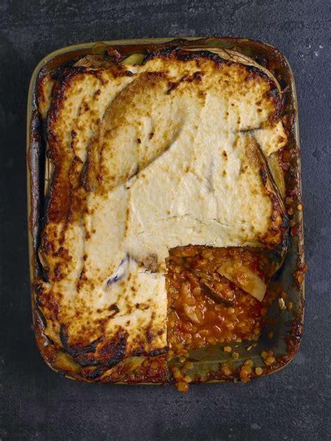 red lentil  aubergine moussaka recipe eat