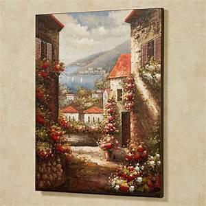 tuscan seaside view canvas wall art With tuscan wall art