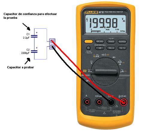 como probar un capacitor fluke 87iii no me mide los capacitores apena los vajo