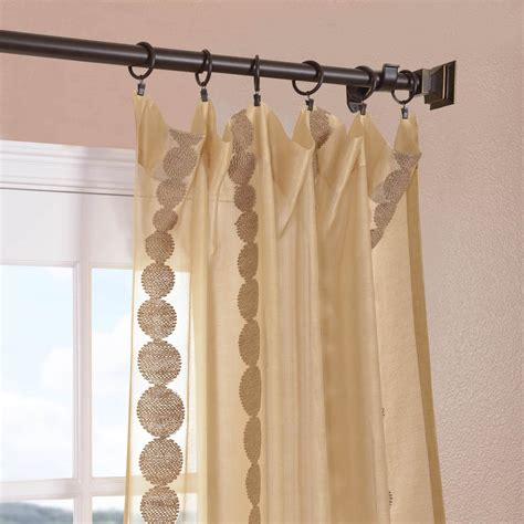 cleopatra gold embroidered sheer curtains drapes