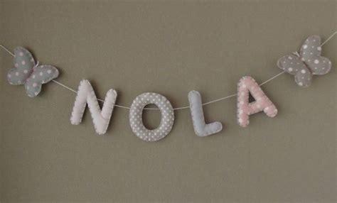 couture deco chambre bebe banderole prénom ou lettres pour décoration chambre bébé
