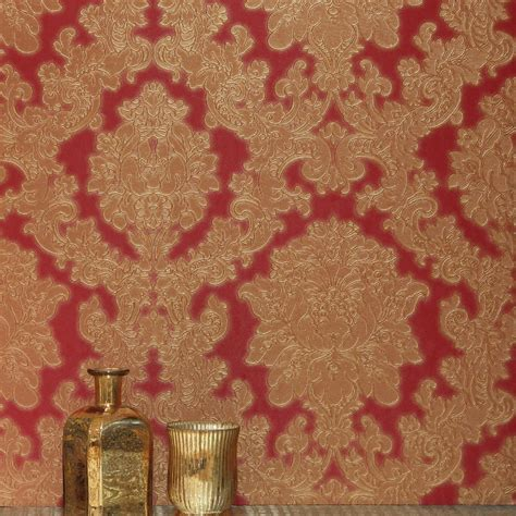 arthouse vicenza damask wallpaper red