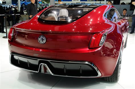 All Ev Cars by All Electric Mg E Motion Concept Is Supercar For