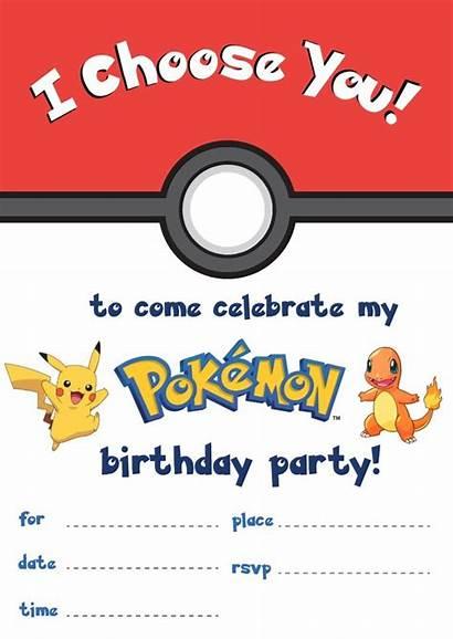 Pokemon Birthday Party Printables Printable Invitations Cards