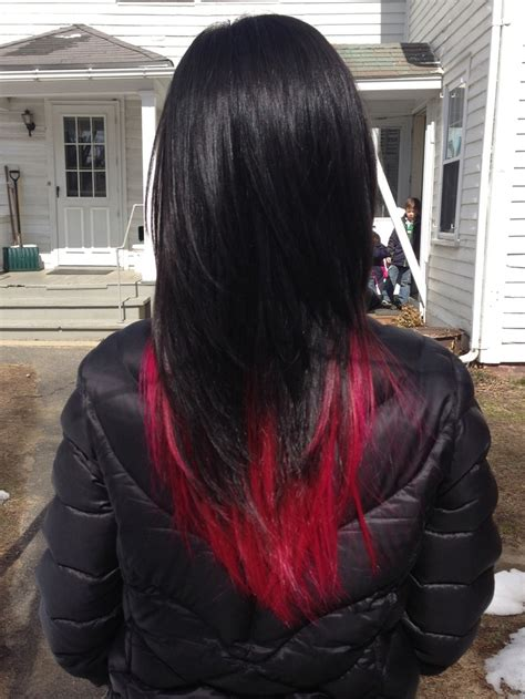 Hair Tagged As Red And Black Hair