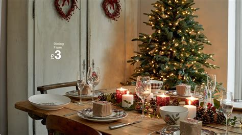 set  perfect christmas dining table matalan