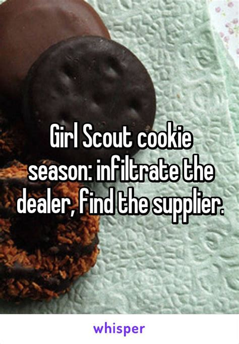 girl scout cookie season infiltrate  dealer find