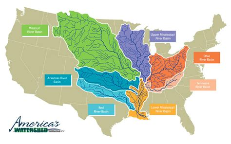 mississippi watershed map  restore  mississippi