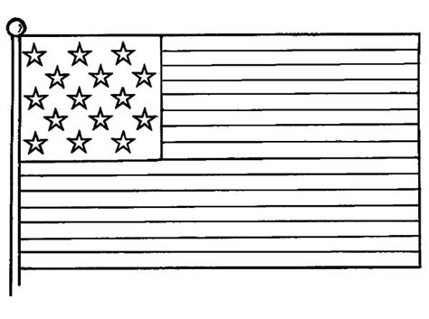 american flag picture  independence day coloring pages
