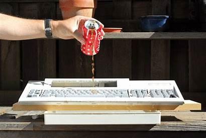 Keyboard Sticky Spilled Clean Spill Drink Drinks