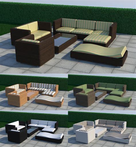 outdoor furniture set thea render