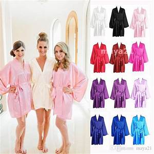 long sleeves cheap bridesmaid and bride robes silk With cheap wedding party gifts
