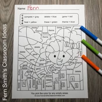 color  code long vowel words bundle  fern smiths