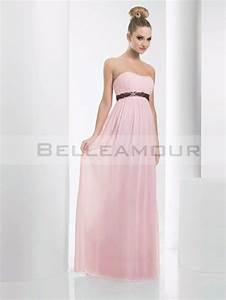 robe demoiselle d39honneur elegant empire bustier rose With robe bustier rose poudré