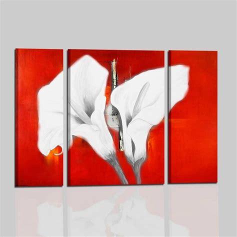quadri con i fiori quadri con fiori calle colori fondamentali rosso e bianco