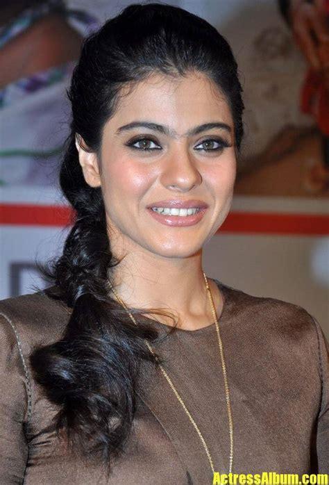 indian lady kajol long hair smiling face closeup actress