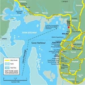 Map of Suva City Fiji