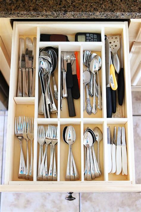 wooden drawer organizers kitchen 65 ingenious kitchen organization tips and storage ideas 1617