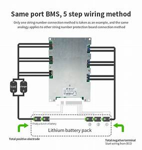 Common Port 14s 48v 200a Lithium Battery Bms For Li