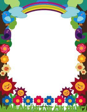 printable meadow border  decorated  cute