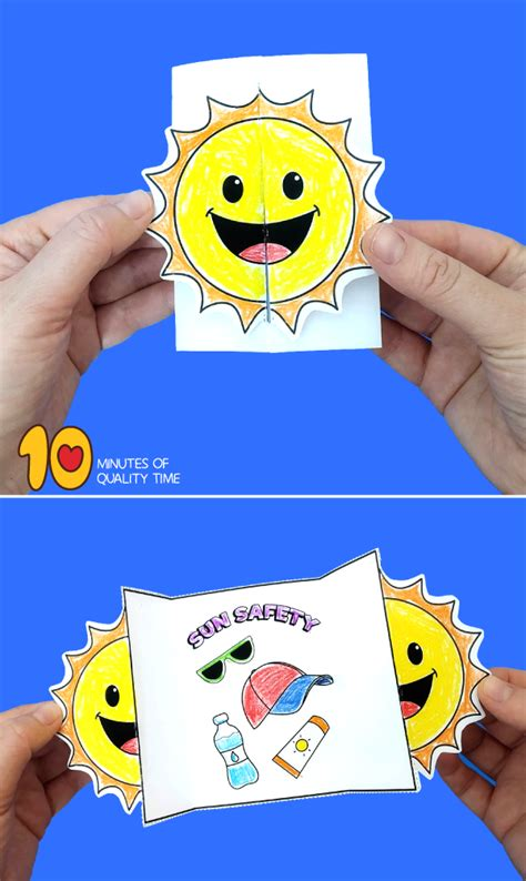 sun safety folding craft  minutes  quality time