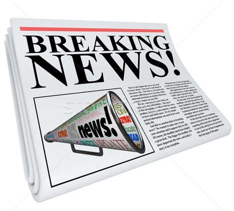 Newspaper Clipart Breaking News Newspaper Front Page Announcement Stock