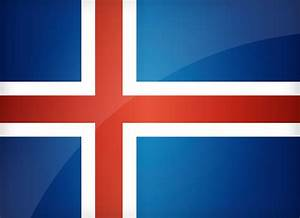 Iceland Flag Free Coloring Pages