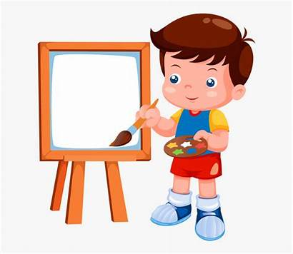 Clipart Drawing Chores Painting Cartoon Child Daily