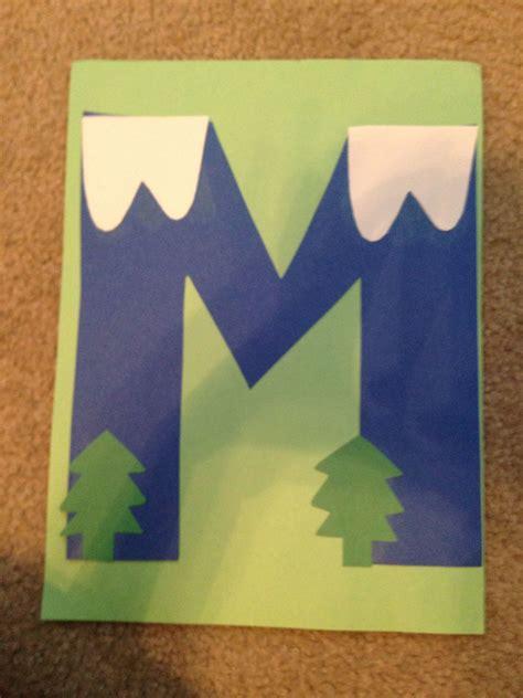 mountain alphabet crafts preschool alphabet