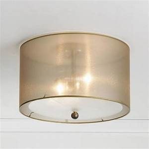 Sheer elegance organza shade ceiling light lamp shades