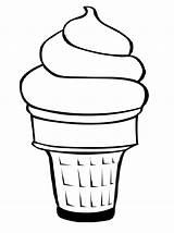 Ice Cream Sundae Cartoon Clip Clipart Cone Coloring Library sketch template