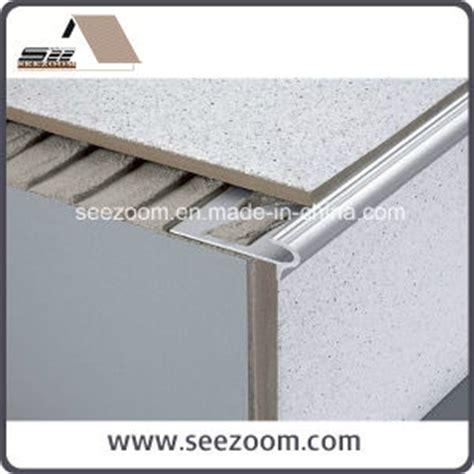 china silver white aluminum stair nosing edge tile trim