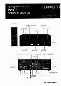 Kenwood A71 Service Manual