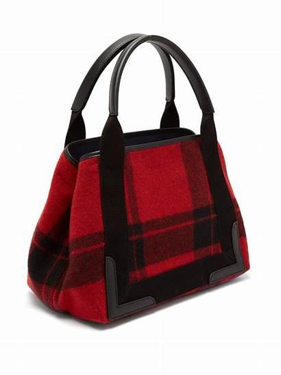 Cabas Balenciaga Plaid Bag