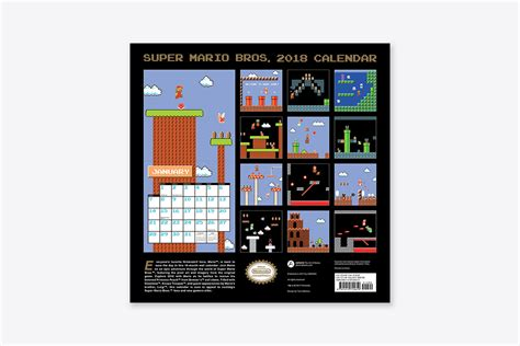 super mario bros wall calendar retro art wall abrams