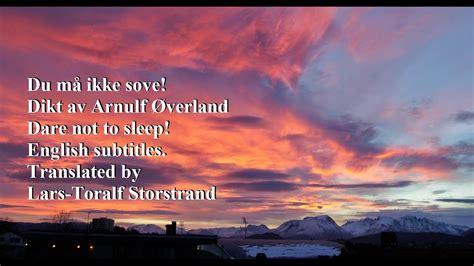 sleep poem  arnulf overland english
